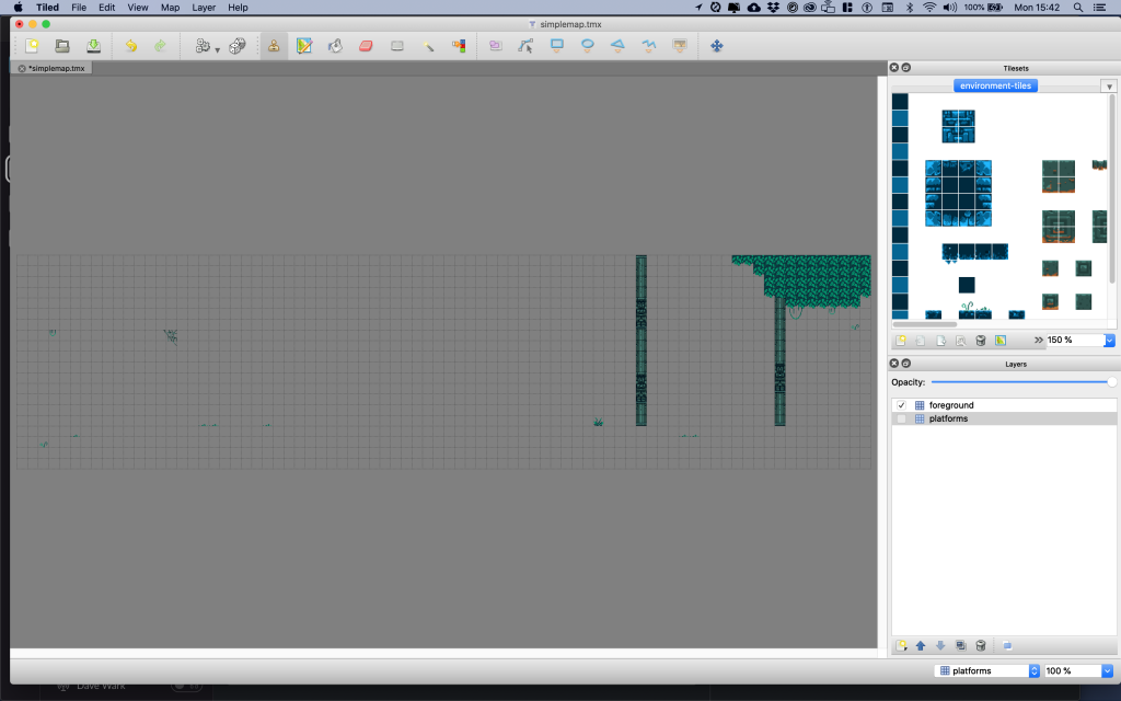 Showing only the foreground layer in Tiled