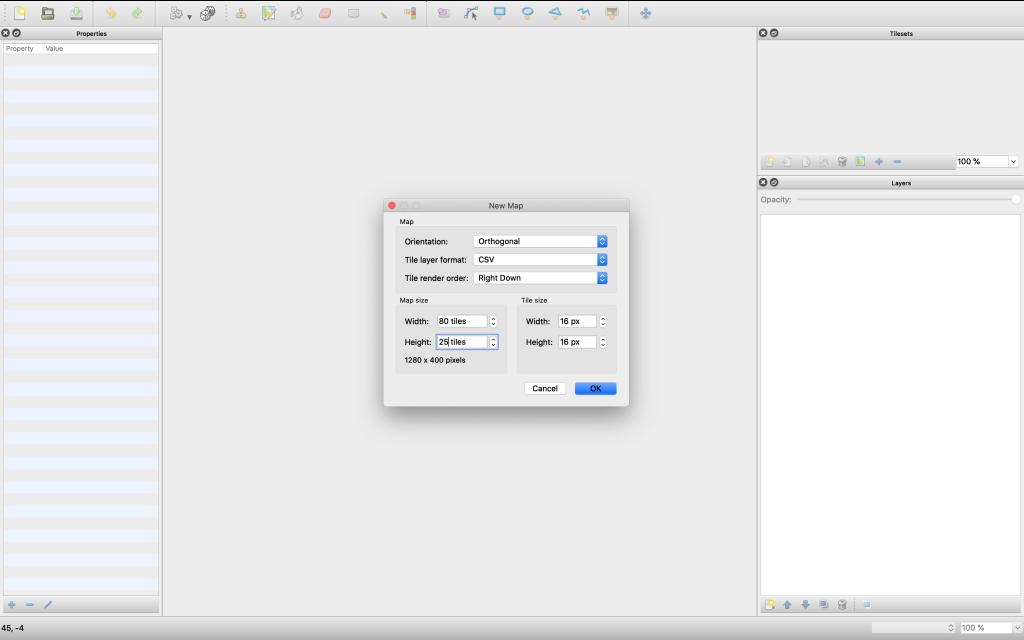 Create a tilemap config screen